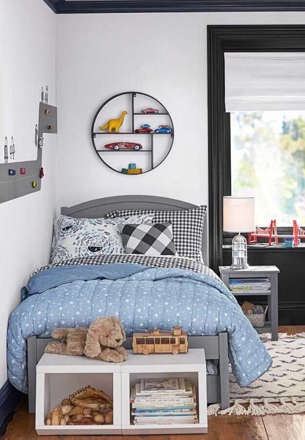 decoração para quarto de solteiro com nicho redondo Foto Pinterest