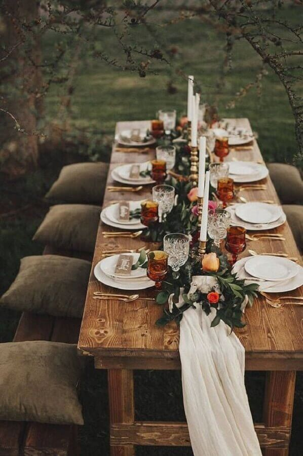 decoração rústica para bodas de casamento Foto Etsy
