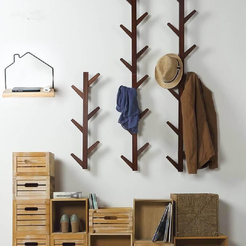 decoração simples com cabideiro de parede Foto Ali Express