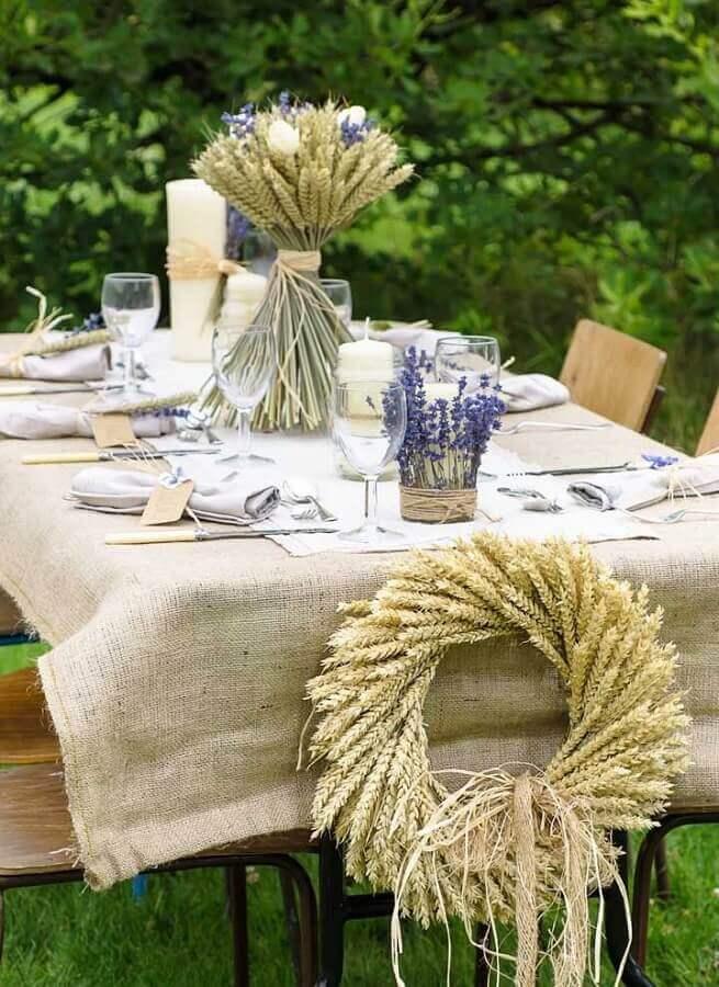 decoração simples e rústica para aniversário de casamento bodas Foto Love Our Wedding