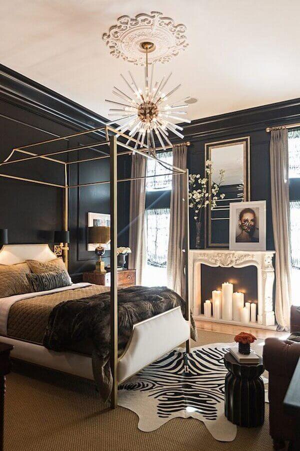 decoração sofisticada com lustre moderno para quarto de casal Foto ConfettiStyle