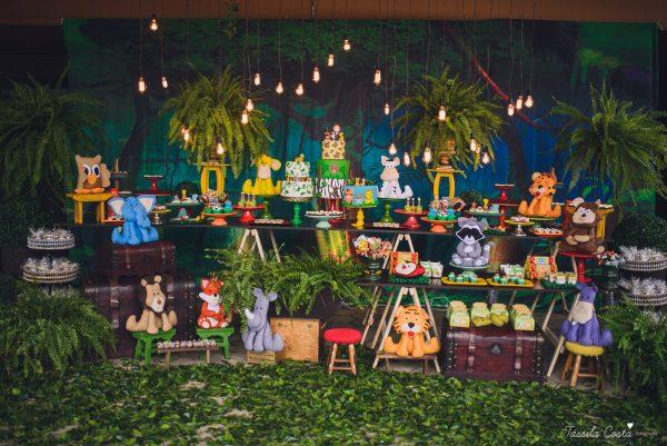 Decoração de festa tema safari