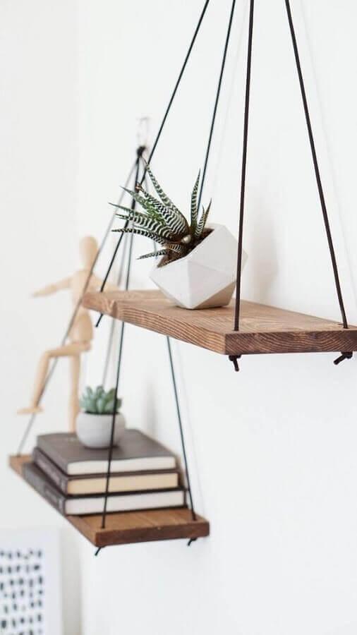 delicado suporte para prateleira de madeira Foto Antler Wall Art