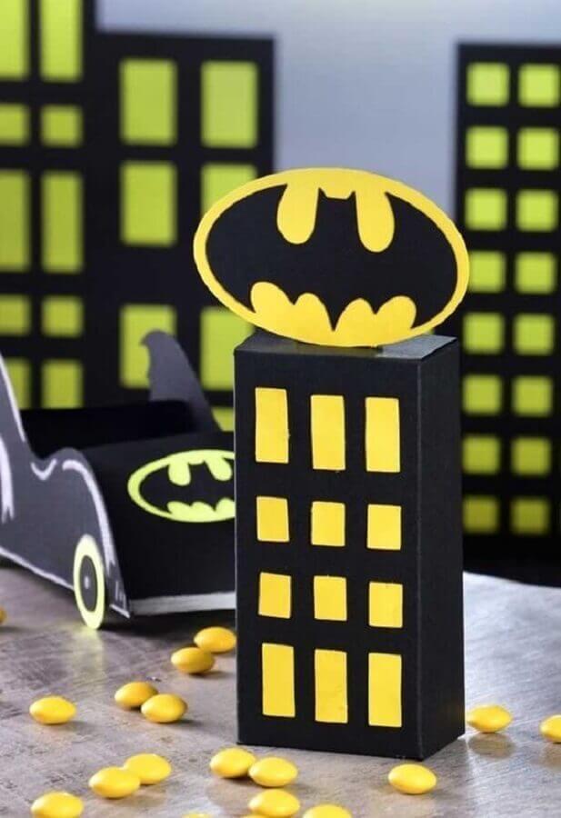 detalhes para decoração do batman para festa infantil Foto Pinterest