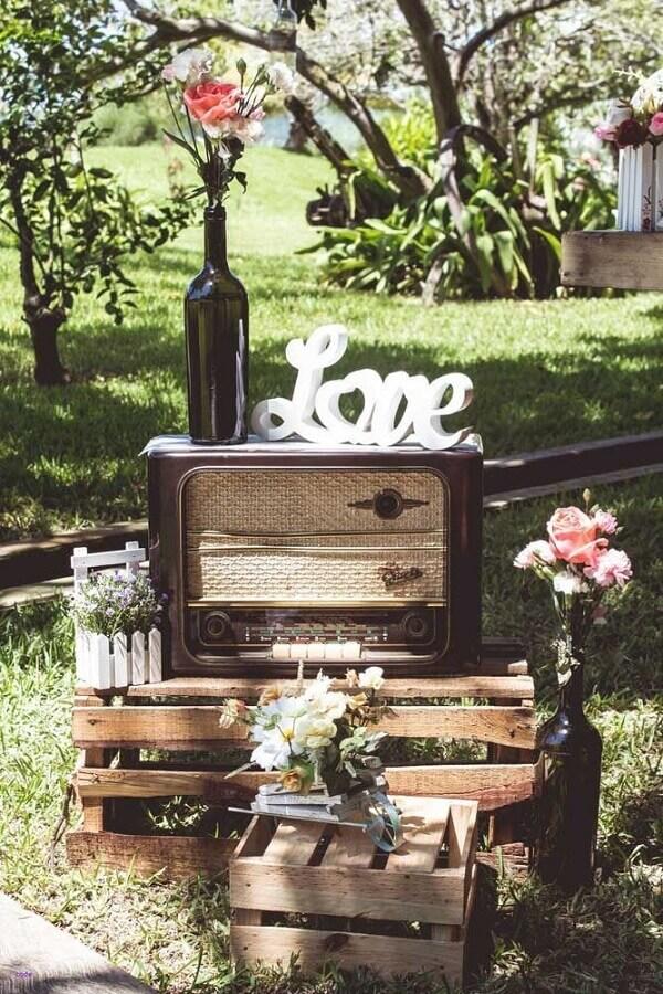 detalhes para decoração rústica para aniversário de casamento bodas Foto Weddbrook