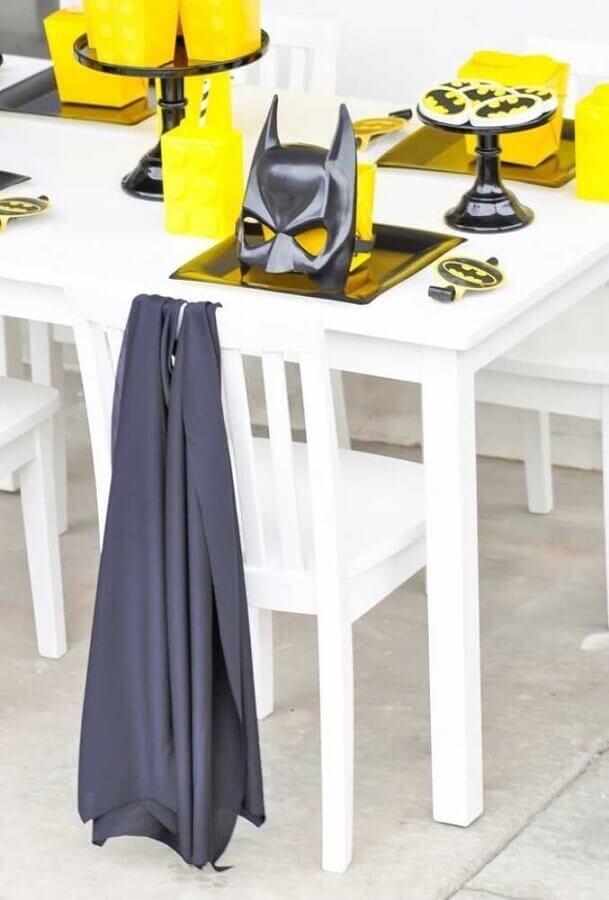 detalhes para mesa de convidados em festa do batman simples Foto OfferUp