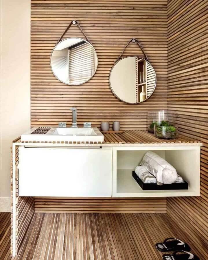 espelho redondo para banheiro Foto Ana Paula e Sanderson
