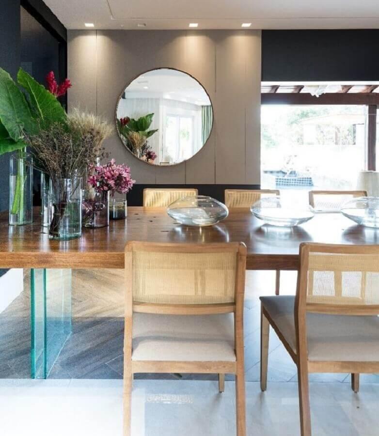 espelho redondo para sala de jantar Foto Lucas Barbosa