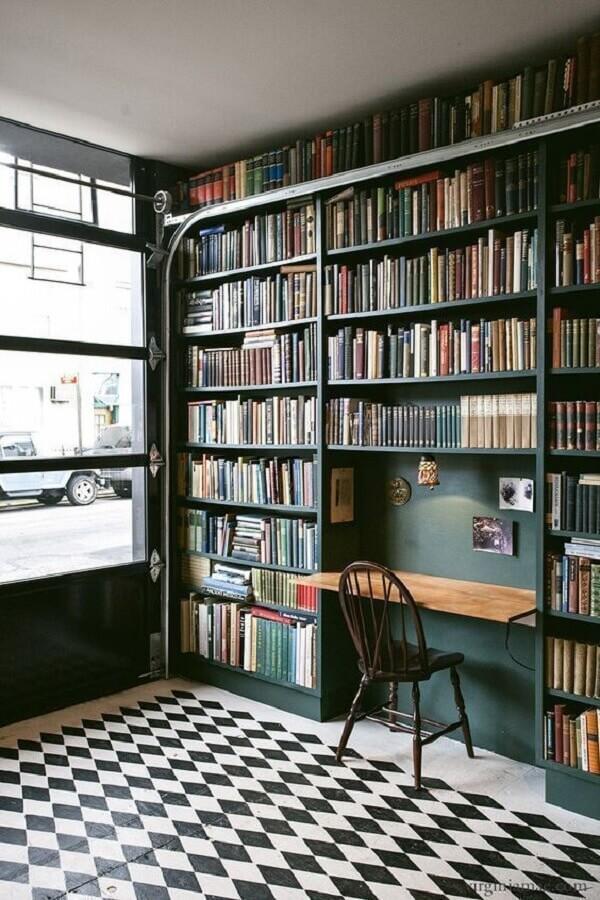estante para livros planejada Foto We Heart It