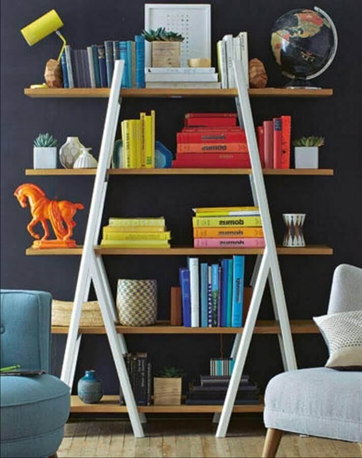estantes para livros de parede e simples Foto Amocalex