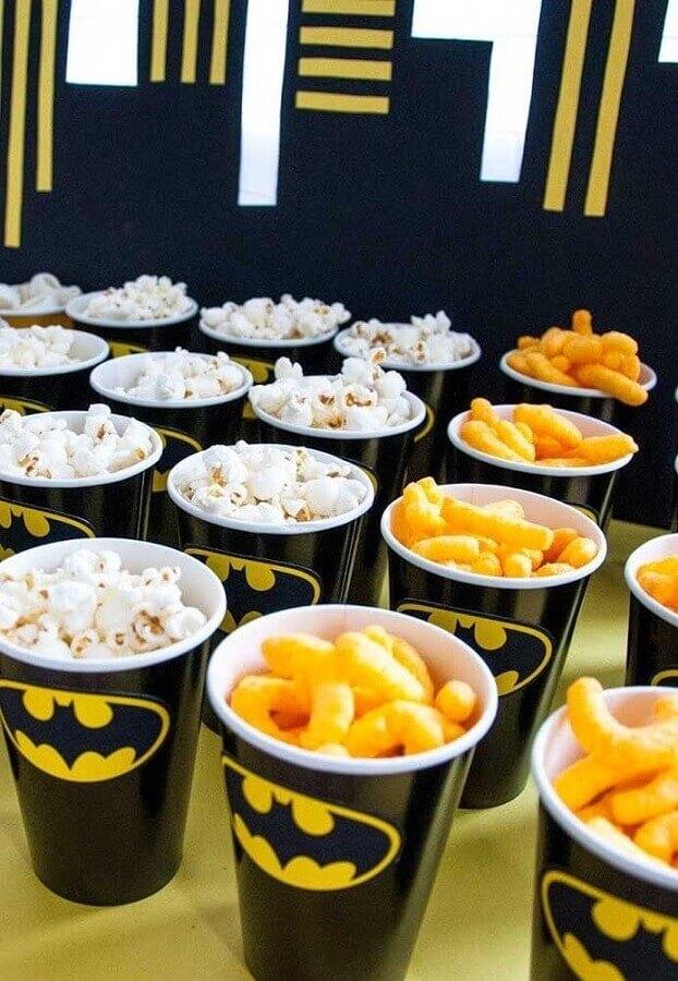 festa do batman com copos personalizados Foto Sweet by Nature