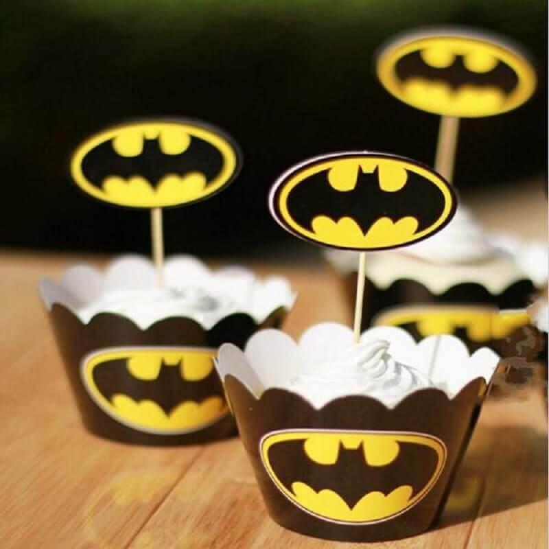 forminhas para doces para decoração de festa do batman Foto DHgate