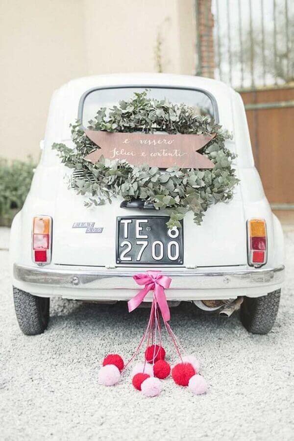 fusca decorado para aniversário de casamento bodas Foto Love Our Wedding