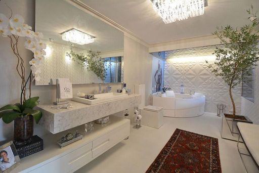 gesso acartonado - banheiro com painel em parede de gesso