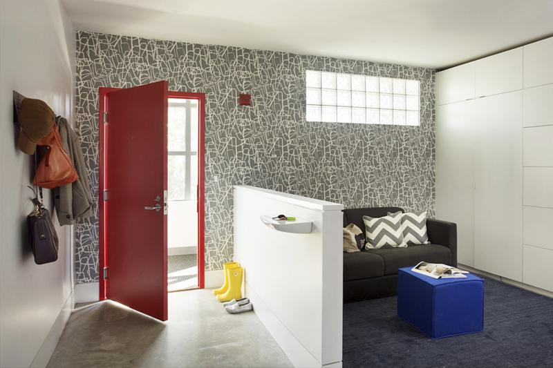gesso acartonado - sala de estar com meia parede feita em gesso acartonado