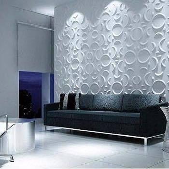 gesso acartonado - sala de estar com parede de gesso com painel decorado
