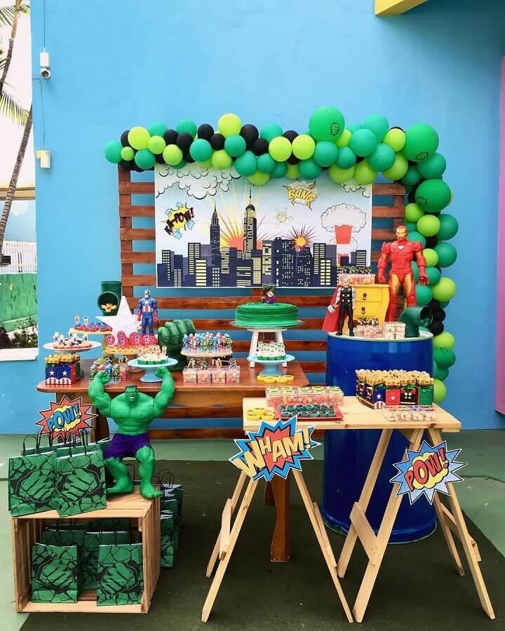 ideia de decoração de festa infantil simples menino Foto Daniela Souto