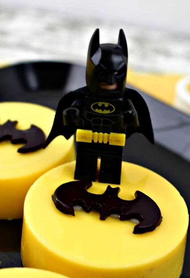 ideia de decoração para festa do batman Foto Pinterest