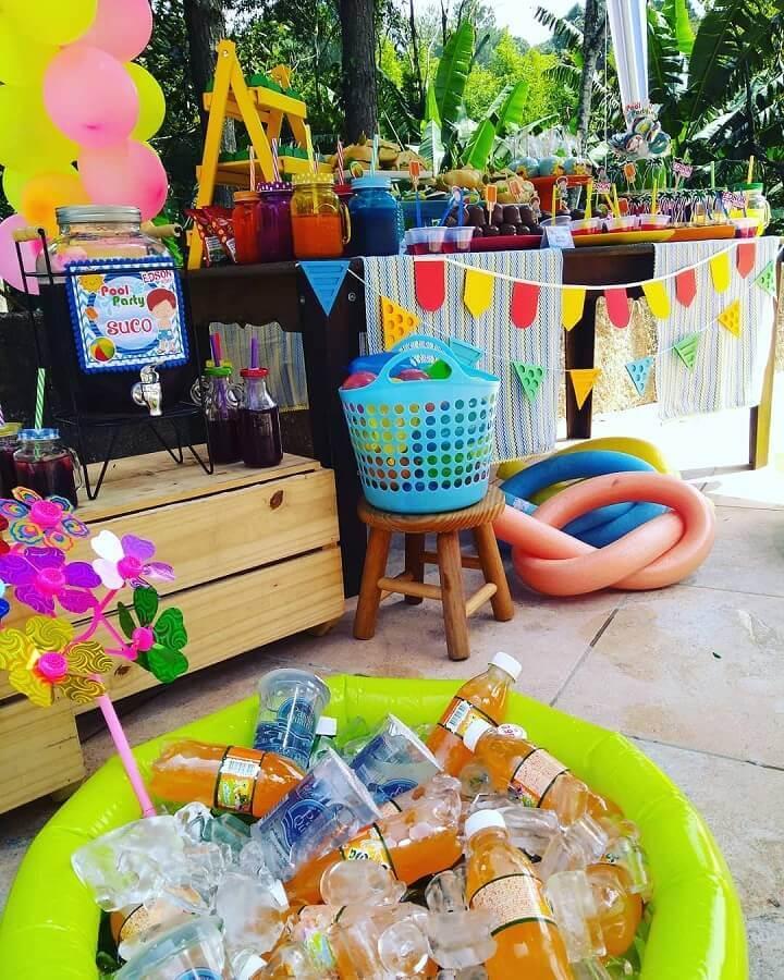 ideias para festa na piscina Foto Apaixonarte's Personalizados