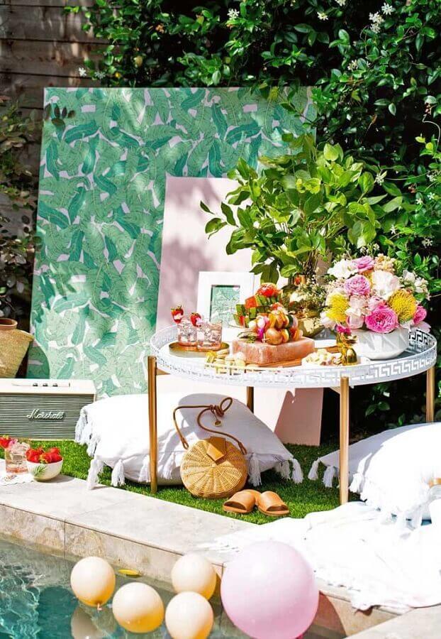 ideias para festa na piscina Foto Ideias para Casar