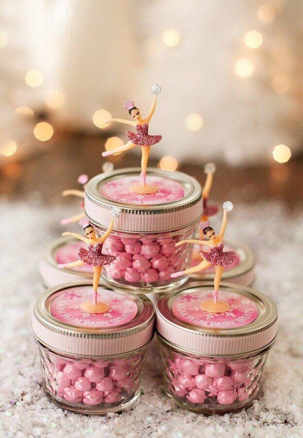 lembrancinhas para decoração de festa infantil menina com tema bailarina Foto Casa e Festa