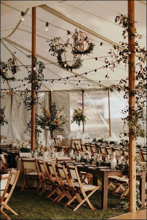 linda decoração rústica para bodas de casamento Foto Pinterest