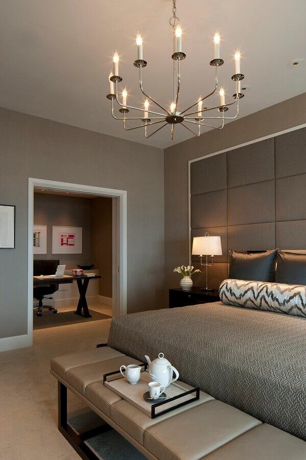 lustre de teto para quarto de casal moderno Foto Interior Design