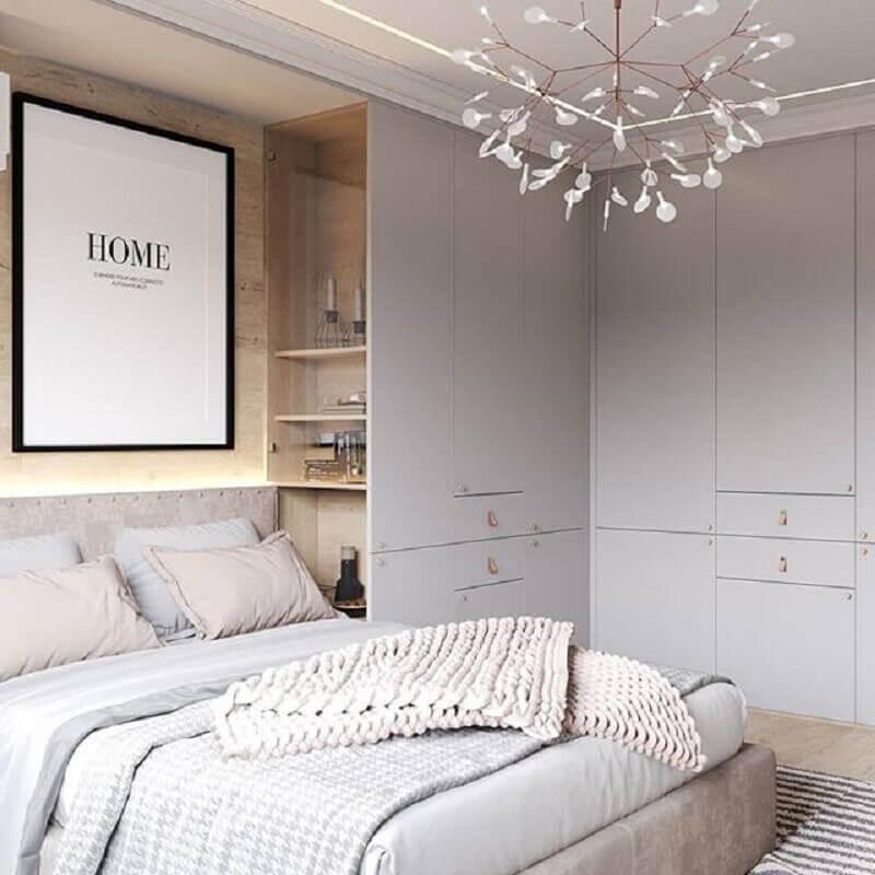 lustre para quarto de casal pequeno e moderno Foto Pinterest