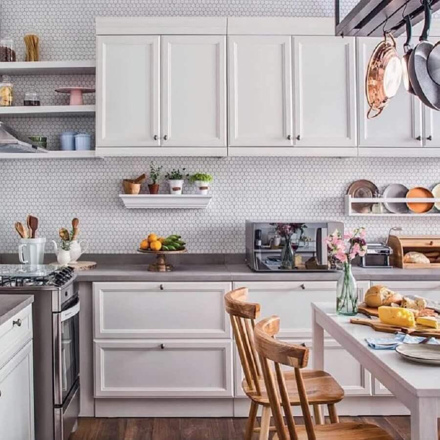 móveis de cozinha planejada com design clássico Foto Patrícia Ribeiro Arquitetura