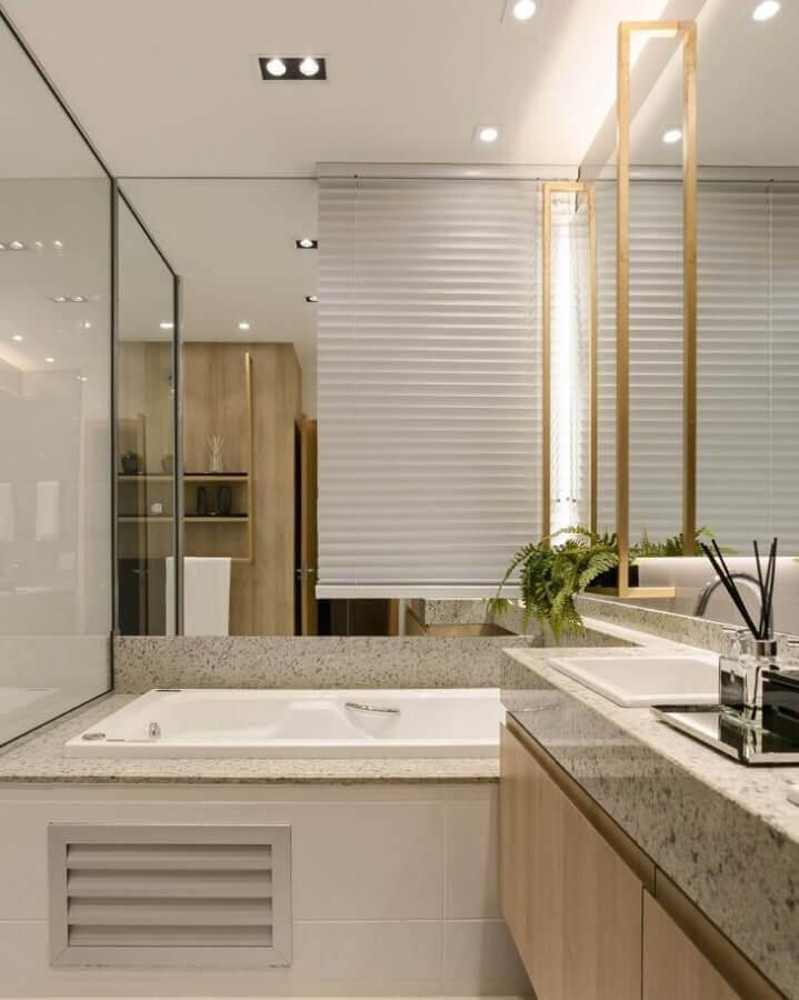 móveis planejados para banheiro pequeno com banheira Foto Architect & Inteior Design