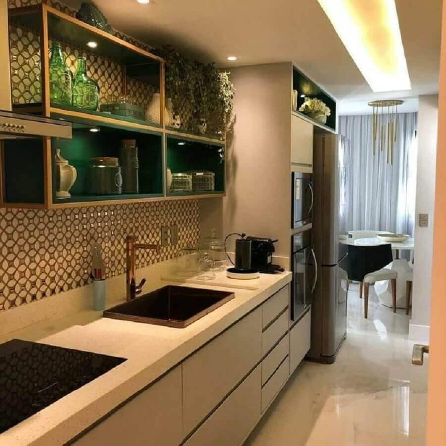 móveis planejados para cozinha corredor Foto Arquiteta Jamilla Vigorito
