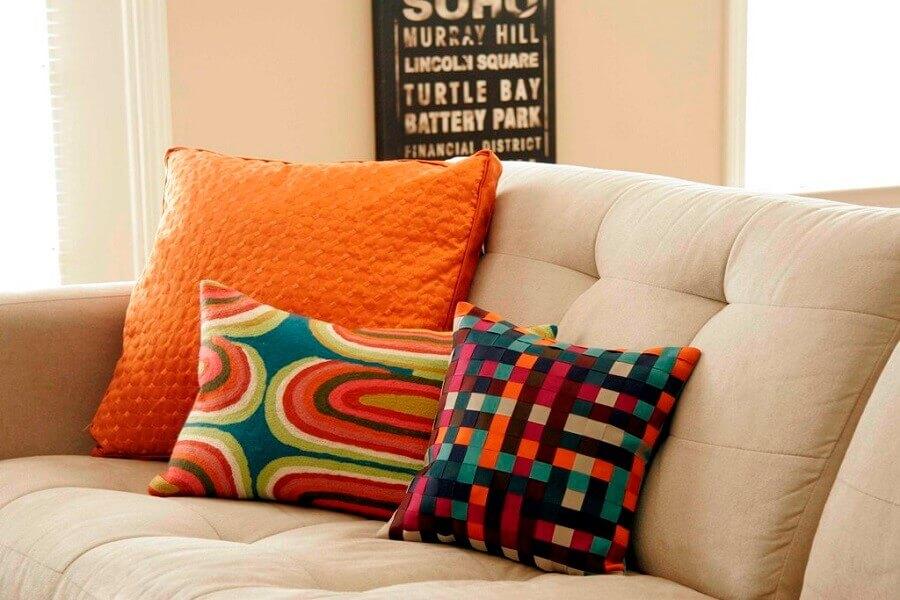 modelo de capas para almofadas coloridas Foto 2345home