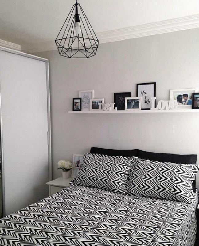 modelo de lustre para quarto de casal simples Foto Make Rosa Blog