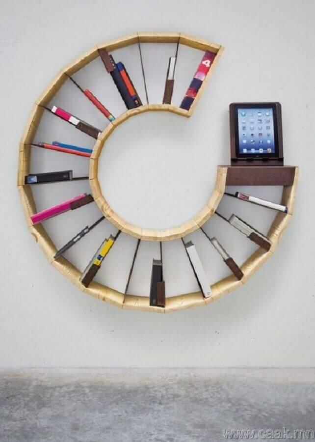 modelo de nicho redondo para livros Foto Deavita