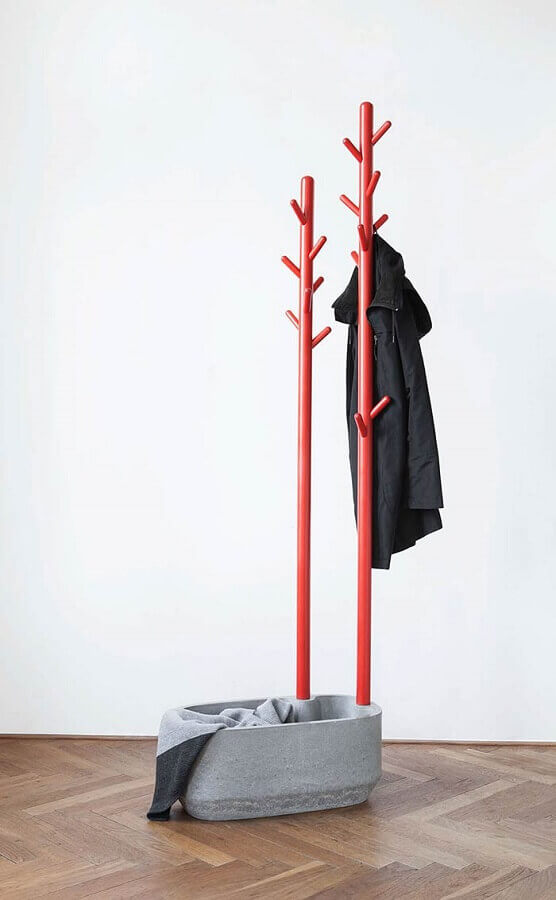 modelo diferente de cabideiro de chão Foto Behance