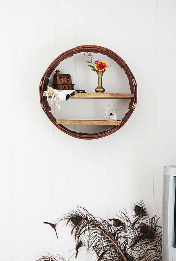 modelo rústico de nicho redondo Foto NaiBann