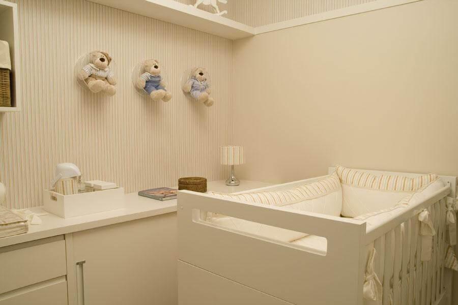 nicho de acrílico transparente redondo para quarto de bebê Foto lilian barbieri