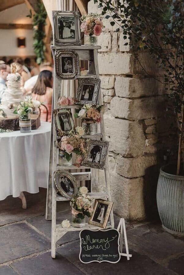 painel de fotos para decoração de bodas de casamento Foto Wh