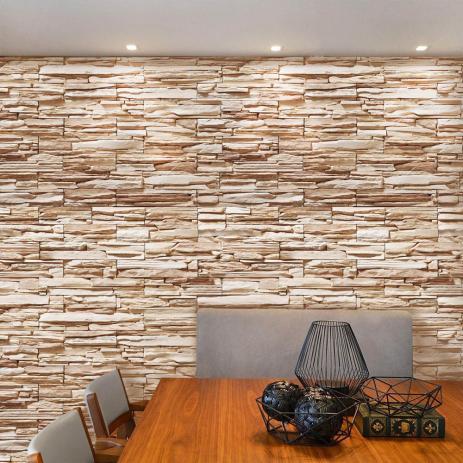 Papel de parede com pedra canjiquinha