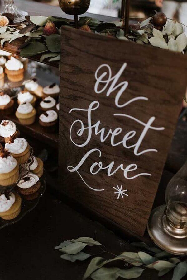 plaquinha decorativa para bodas de casamento Foto 100 Layer Cake