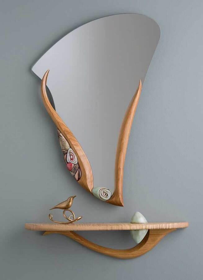 prateleira de madeira Foto Costco Vanity Mirror