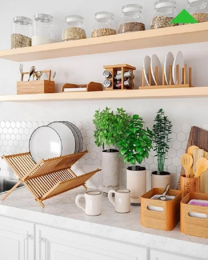 prateleira de madeira para cozinha Foto Leroy Merlin