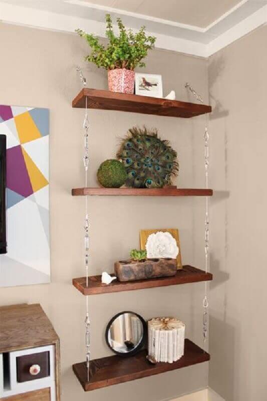 suporte para prateleira de madeira Foto Pinosy