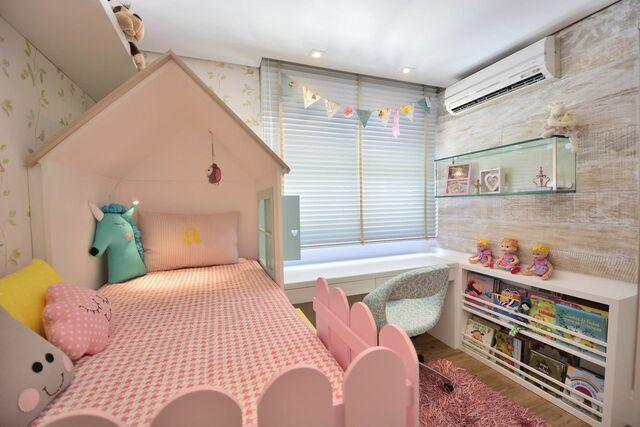 tinta para madeira - quarto infantil com móveis rosas e brancos