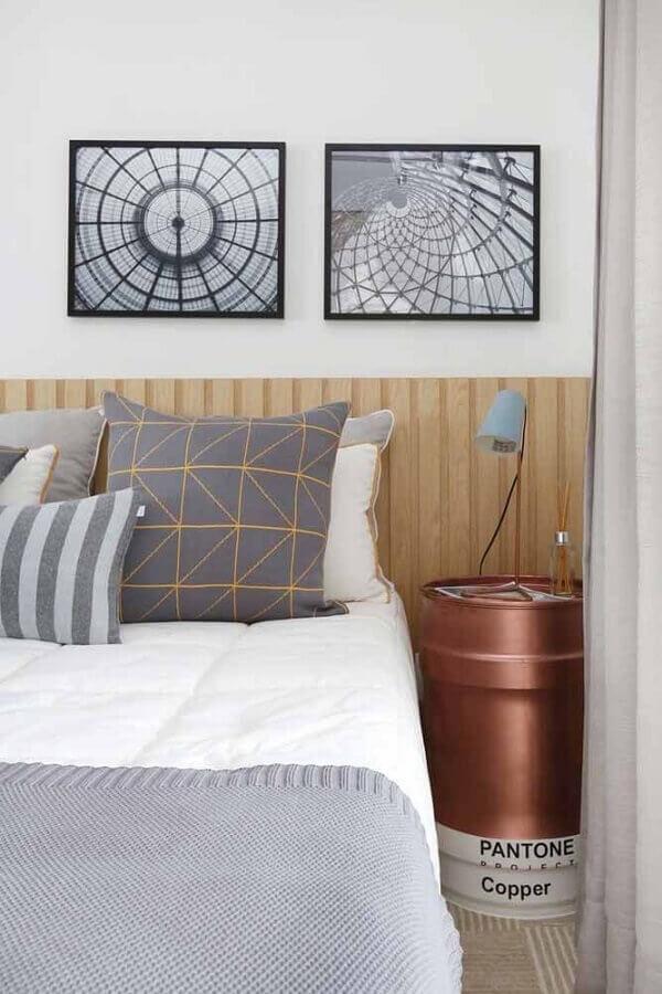 tonel para decoração de quarto de casal Foto Zozu