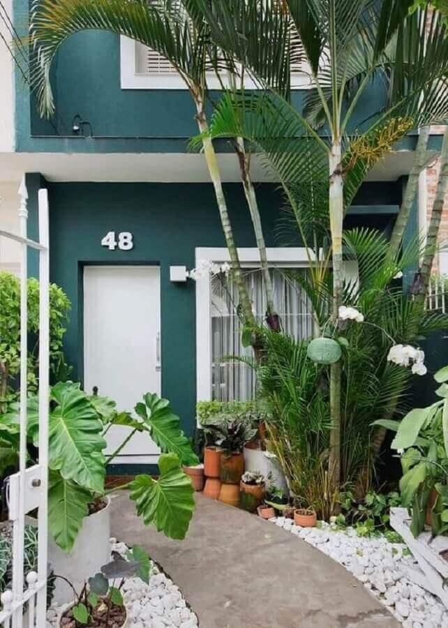 Tons de verde escuro para fachada de casa Foto Pinterest