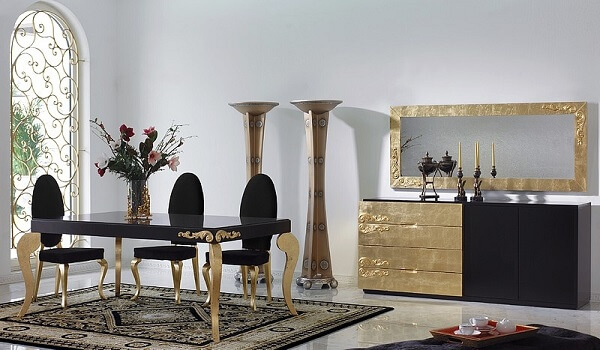A técnica do dourado é uma das mais antigas na decoração de madeira