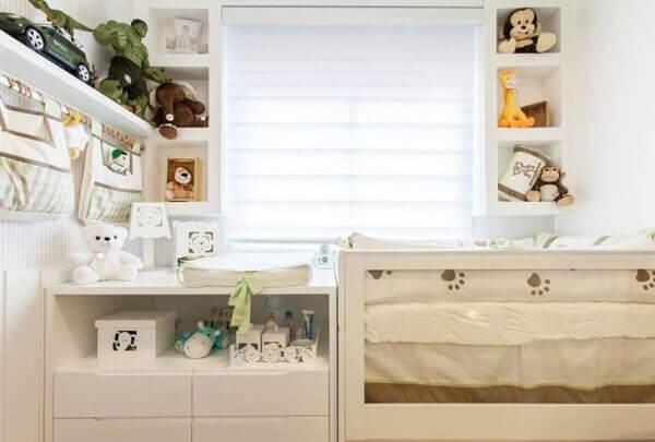 As persianas romanas para quarto de bebê trazem conforto ao ambiente