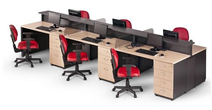 Cadeira para escritório do tipo caixa