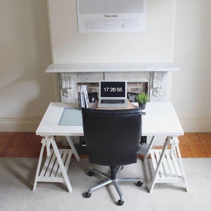 Cadeira para escritório preto com rodízios